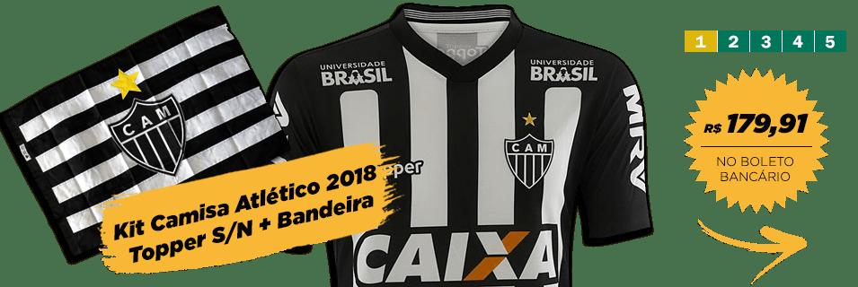 Calção de Jogo Atlético MG Topper 2017 Preto R  109 7c2d0c8628bd9