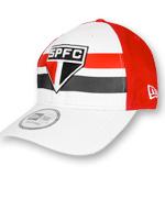 Boné New Era SPFC Branco e Vermelho