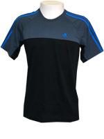 Camisa Adidas AESS 3S Crew Preta / Cinza