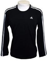 Camisa Adidas 3S AESS Manga Longa Preta