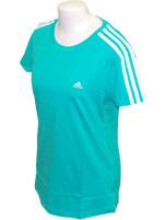 Camisa Feminina Ess 3S Tee Adidas Verde
