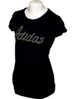 Camisa Feminina Adidas Glitter Preta