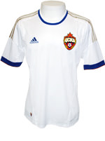 Camisa de Jogo CSKA Moscou Adidas 2013 Branca