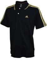 Camisa Polo Adidas AESS 3S Preta/Dourada