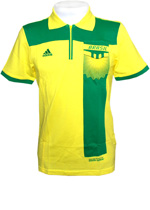 Camisa Polo Brasil Adidas - Amarela