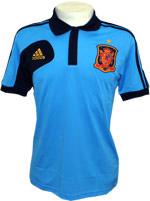 Camisa Polo Espanha Adidas Azul