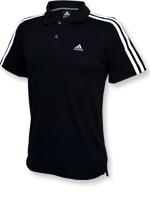 Camisa Polo Adidas ESS 3S Preta