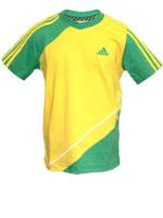 Camisa Inf.l TCOF Q2 TEE Adidas - Amarela e Verde