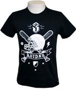 T-Shirt Adidas Bats n Bones Preta