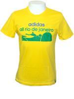 T-Shirt Adidas GR Brasil Rio Amarela