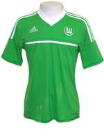 Camisa Jogo 1 Wolfsburg Adidas 2013 Verde