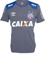 Camisa Aquecimento Bahia Umbro 2016 Cinza