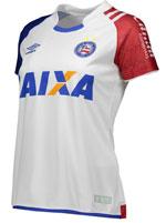 Camisa Feminina 1 Bahia Umbro 2017 Branca