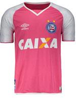 Camisa de Goleiro Bahia Umbro 2017 Rosa