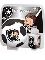 Kit Blister Mini Bola com Squeeze Botafogo