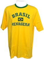 Camisa Braziline Brasil Hexa Amarela
