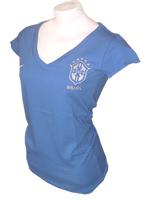 Camiseta Feminina Brasil Gola V Nike Azul