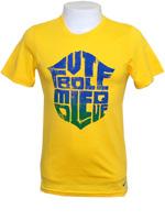 Camisa Brasil Futebol Moleque Nike Amarela