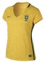 Camisa Feminina Brasil Nike 2017 Amarela S/N