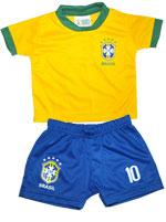 Conjunto Bebê Camiseta e Short Torcida Baby Brasil