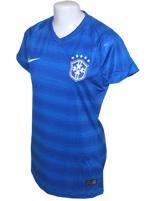 Camisa Feminina Brasil Nike 2014 Azul