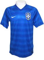 Camisa de Jogo Brasil Nike 2014 Azul Sem Número