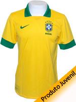 Camisa Juvenil Brasil Nike 2013 Amarela Com N�mero