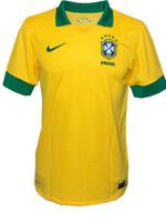 Camisa de Jogo Brasil Nike Amarela Com N�mero