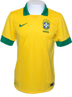 Camisa Juvenil Brasil Nike 2013 Amarela Sem N�mero