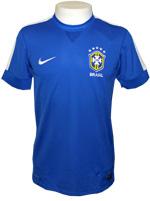 Camisa de Jogo Brasil Nike 2013 Azul Sem N�mero