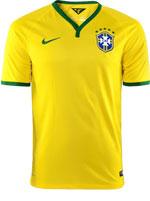 Camisa de Jogo Brasil Nike 2014 Amarela
