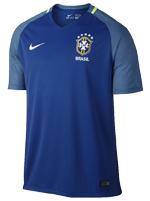 Camisa de Jogo Brasil Nike 2016 Azul S/N