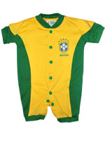 Macacão Curto Color Bebê Torcida Baby Brasil