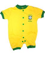 Macacão Curto Bebê Torcida Baby Brasil