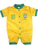Macacão Curto Estilo Bebê Torcida Baby Brasil