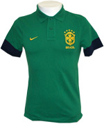 Camisa Polo Authentic Brasil Nike Verde