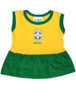 Vestido para Bebê Torcida Baby Brasil
