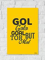 Quadro Canto do Boleiro Gol Golo Goal
