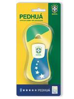 Apito Pedhuá Blister Brasil Bandeira Amarelo