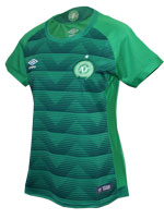 Camisa Feminina Chapecoense 17/18 Umbro Verde