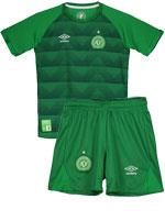 Kit Infantil Jogo 1 Chapecoense Umbro 2017 Verde