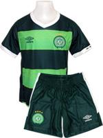 Kit Infantil Jogo 3 Chapecoense Umbro 2015 Verde