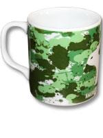 Caneca de Porcelana América - Aquarela Verde