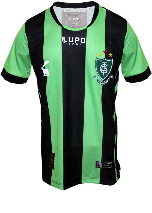 Camisa Infantil América MG Lupo 2017 Listrada b23fe74af7e62