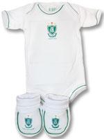 Kit 2 Peças Body Curto Branco Torcida Baby América