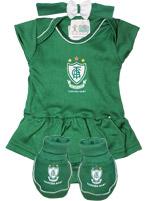 Kit 3 Peças Body Vestido Torcida Baby América