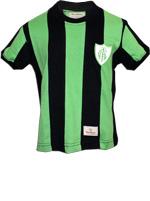 Camisa Retrô Infantil América MG 1971 Verde/Preta