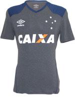Camisa de Aquecimento Cruzeiro Umbro 2016 Cinza