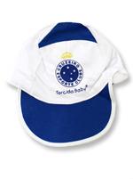 Boné Bebê Azul e Branco Torcida Baby Cruzeiro