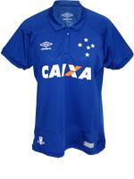 Camisa Feminina Jogo 1 Cruzeiro Umbro 2016 Azul